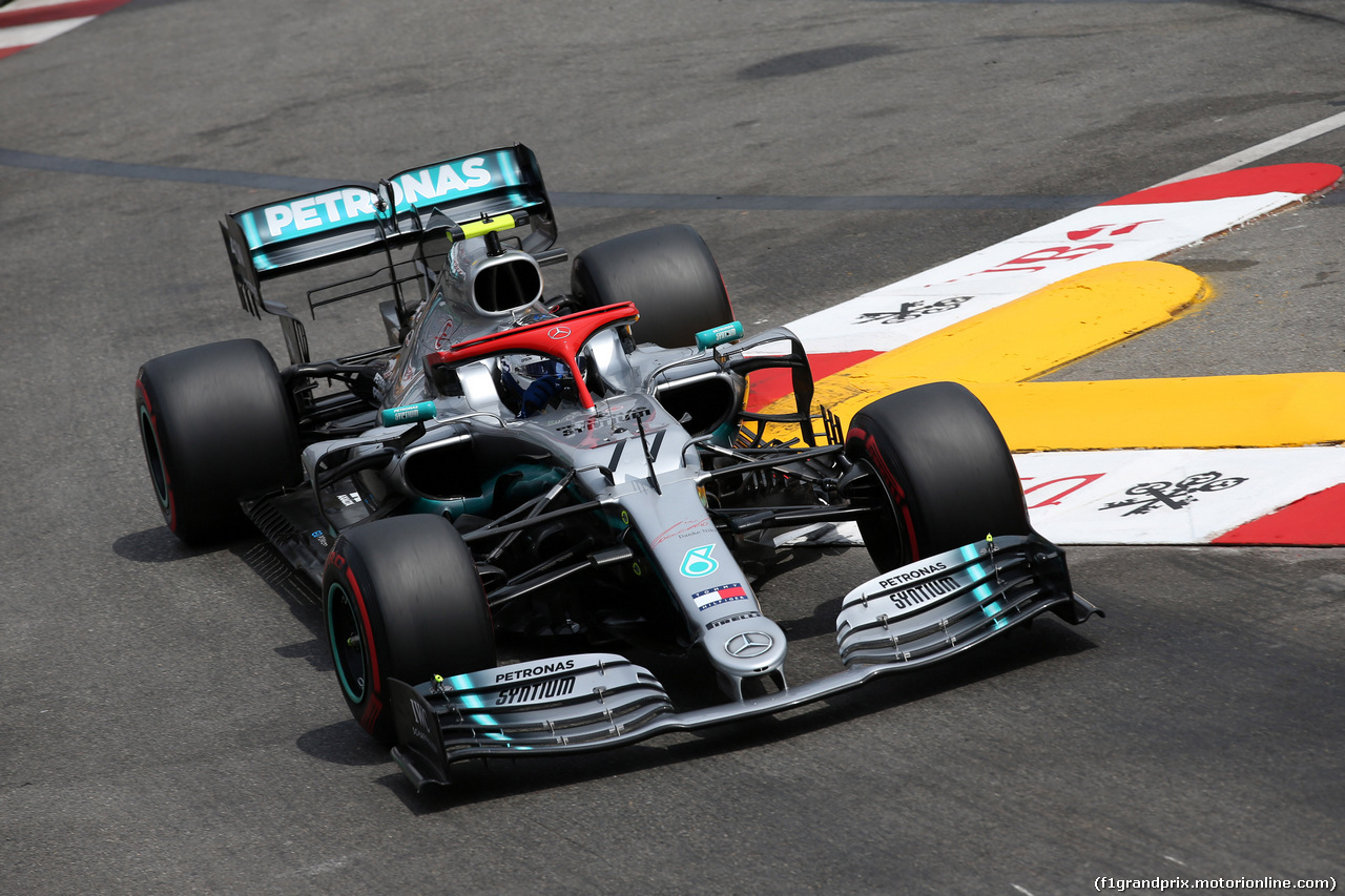 GP MONACO, 25.05.2019 - Prove Libere 3, Valtteri Bottas (FIN) Mercedes AMG F1 W010