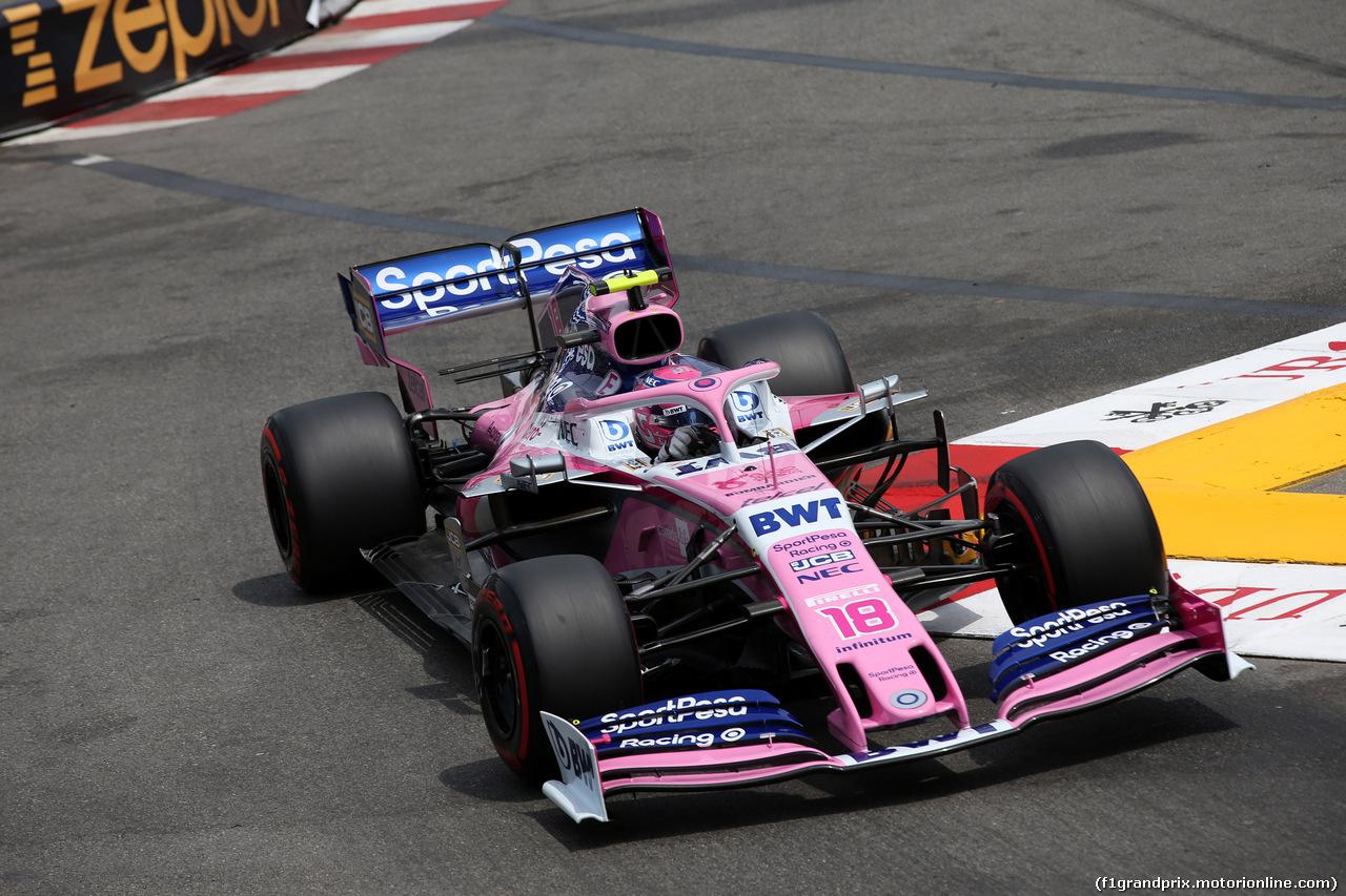GP MONACO, 25.05.2019 - Prove Libere 3, Lance Stroll (CDN) Racing Point F1 Team RP19