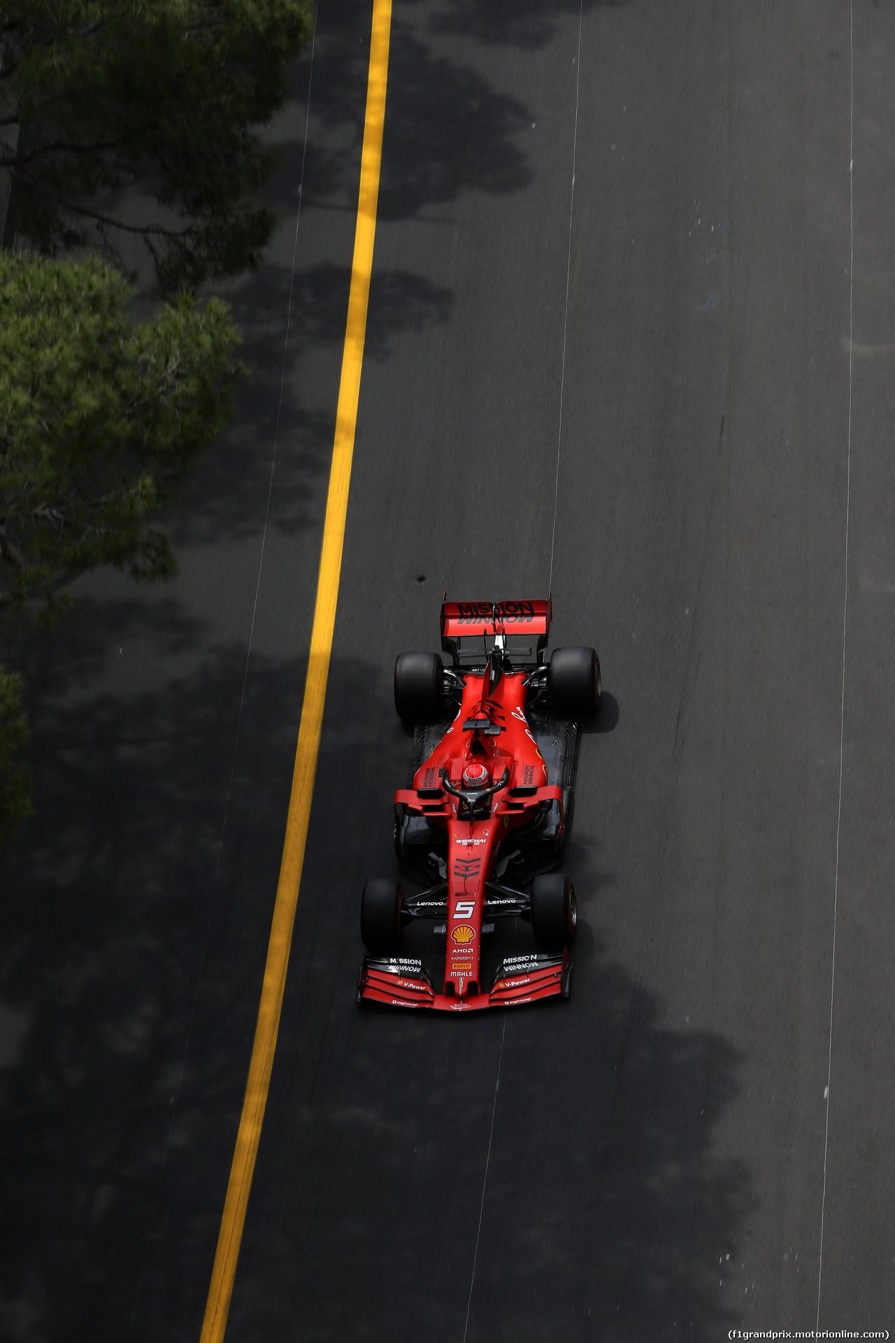GP MONACO, 25.05.2019 - Prove Libere 3, Sebastian Vettel (GER) Ferrari SF90