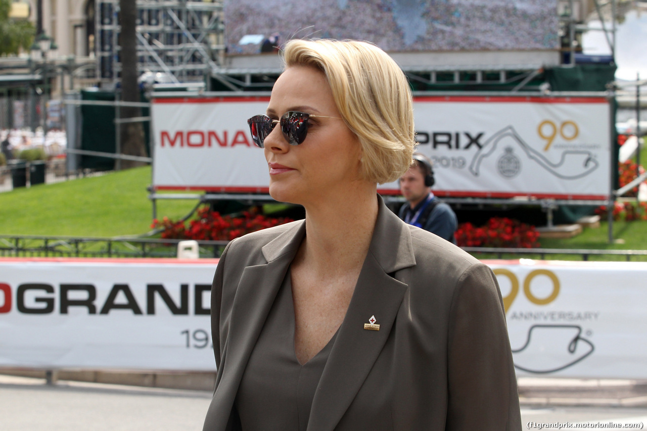 GP MONACO, 25.05.2019 - Prove Libere 3, S.A.S La Princesse Charlene De Monaco