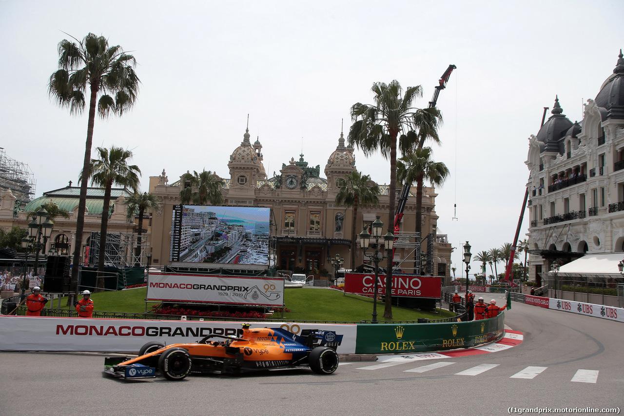 GP MONACO, 25.05.2019 - Prove Libere 3, Lando Norris (GBR) Mclaren F1 Team MCL34