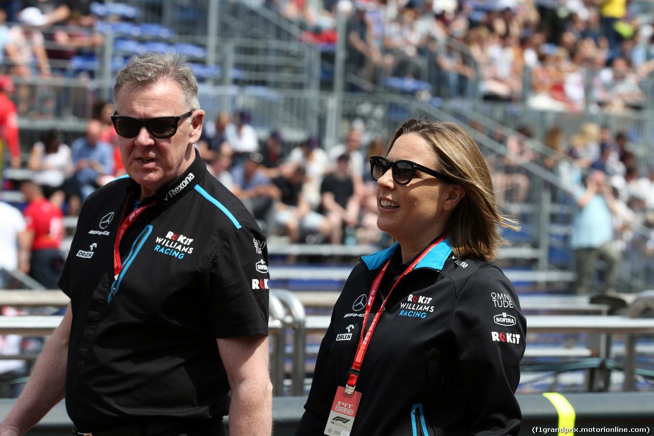 GP MONACO, 25.05.2019 - Qualifiche, (L to R): Mike O'Driscoll (GBR) Williams Group CEO with Claire Williams (GBR) Williams Racing Deputy Team Principal.