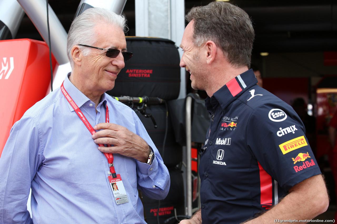 GP MONACO, 25.05.2019 - Qualifiche, Piero Ferrari (ITA) Vice-President Ferrari e Christian Horner (GBR), Red Bull Racing Team Principal
