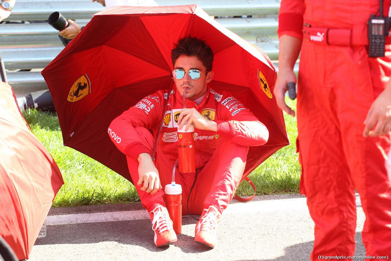 GP RUSSIA, 29.09.2019- grid, Charles Leclerc (MON) Ferrari SF90