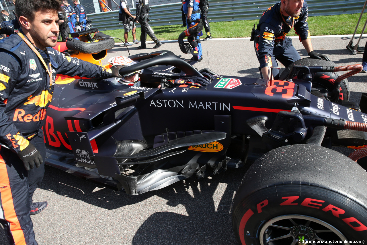 GP RUSSIA, 29.09.2019- grid, Max Verstappen (NED) Red Bull Racing RB15