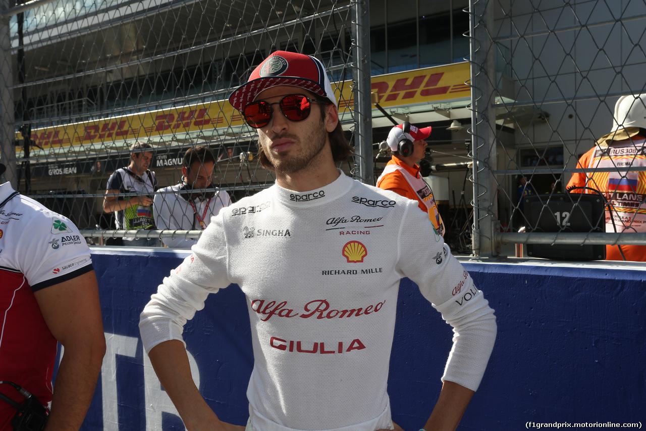 GP RUSSIA, 29.09.2019- Gara, Antonio Giovinazzi (ITA) Alfa Romeo Racing C38