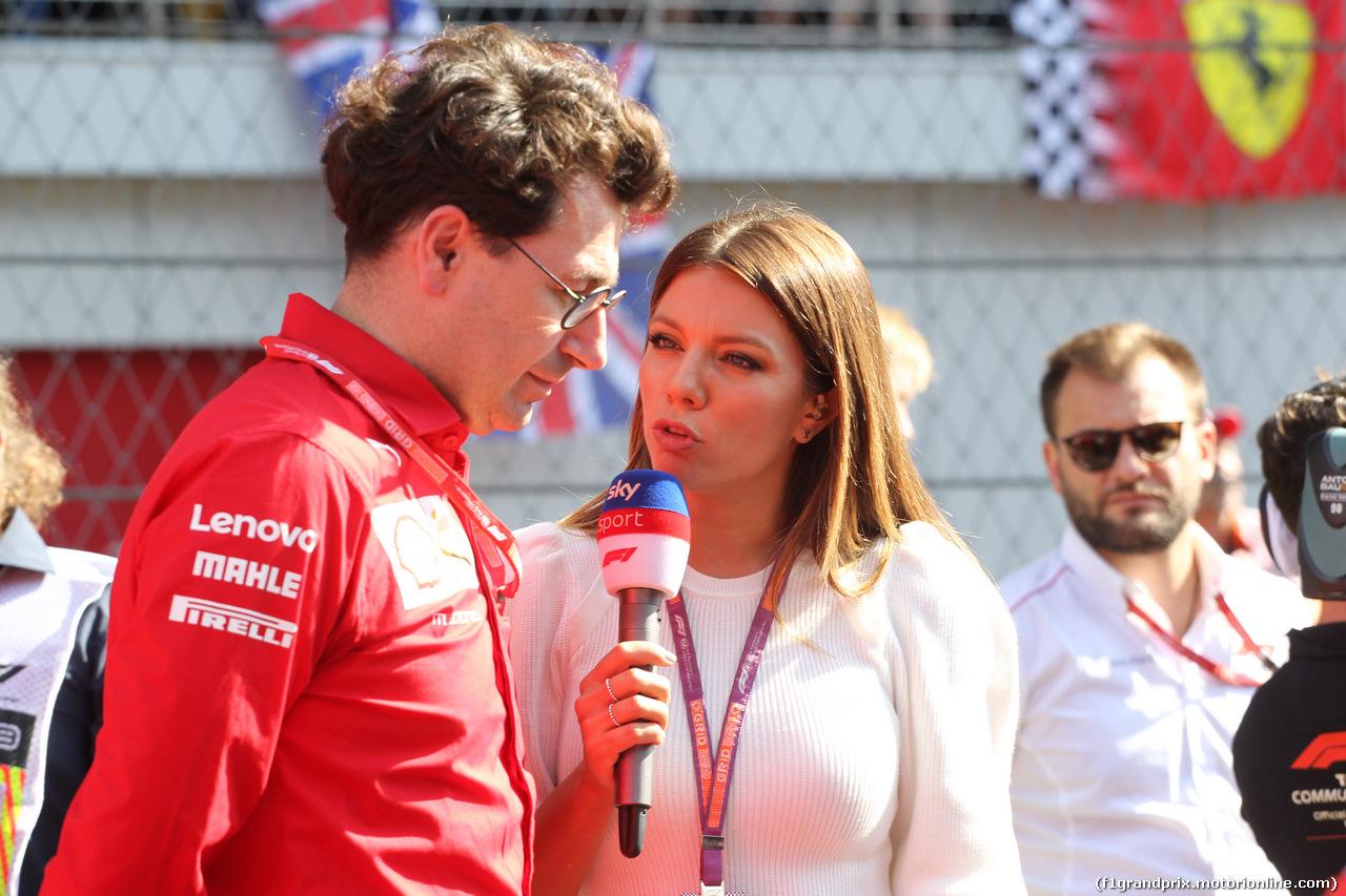 GP RUSSIA, 29.09.2019- grid, Mattia Binotto (ITA) Ferrari Team Principal e Federica Masolin (ITA) SKY