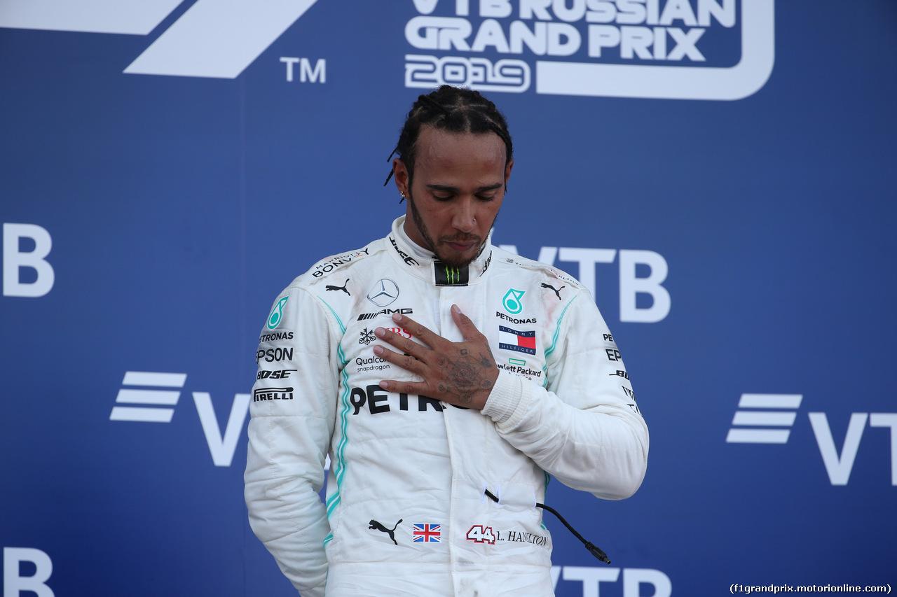 GP RUSSIA, 29.09.2019- Podium, winner Lewis Hamilton (GBR) Mercedes AMG F1 W10 EQ Power
