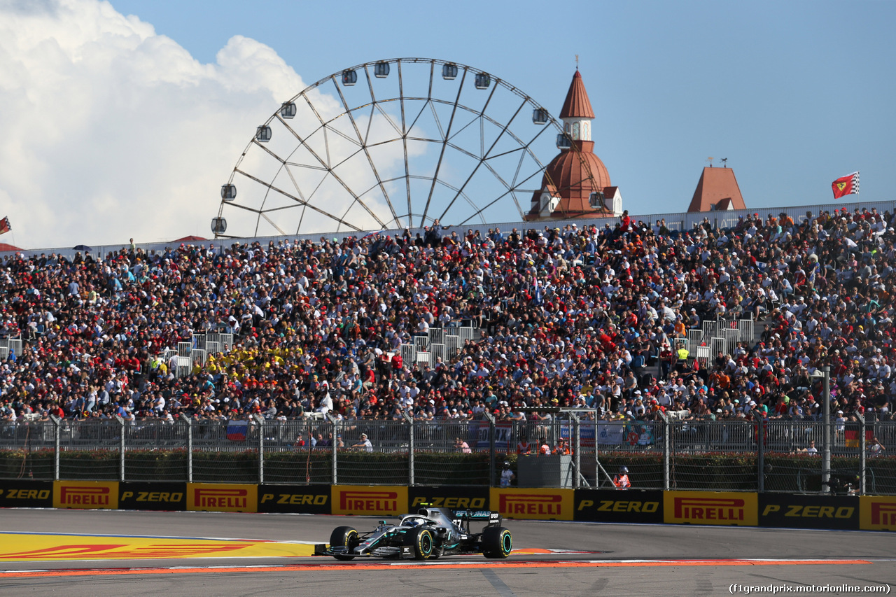 GP RUSSIA, 29.09.2019- Gara, Valtteri Bottas (FIN) Mercedes AMG F1 W10 EQ Power