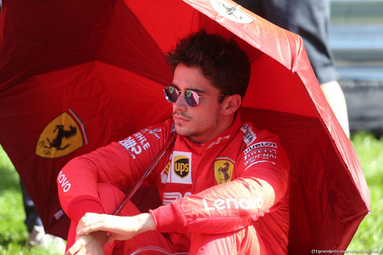 GP RUSSIA, 29.09.2019- griglia, Charles Leclerc (MON) Ferrari SF90