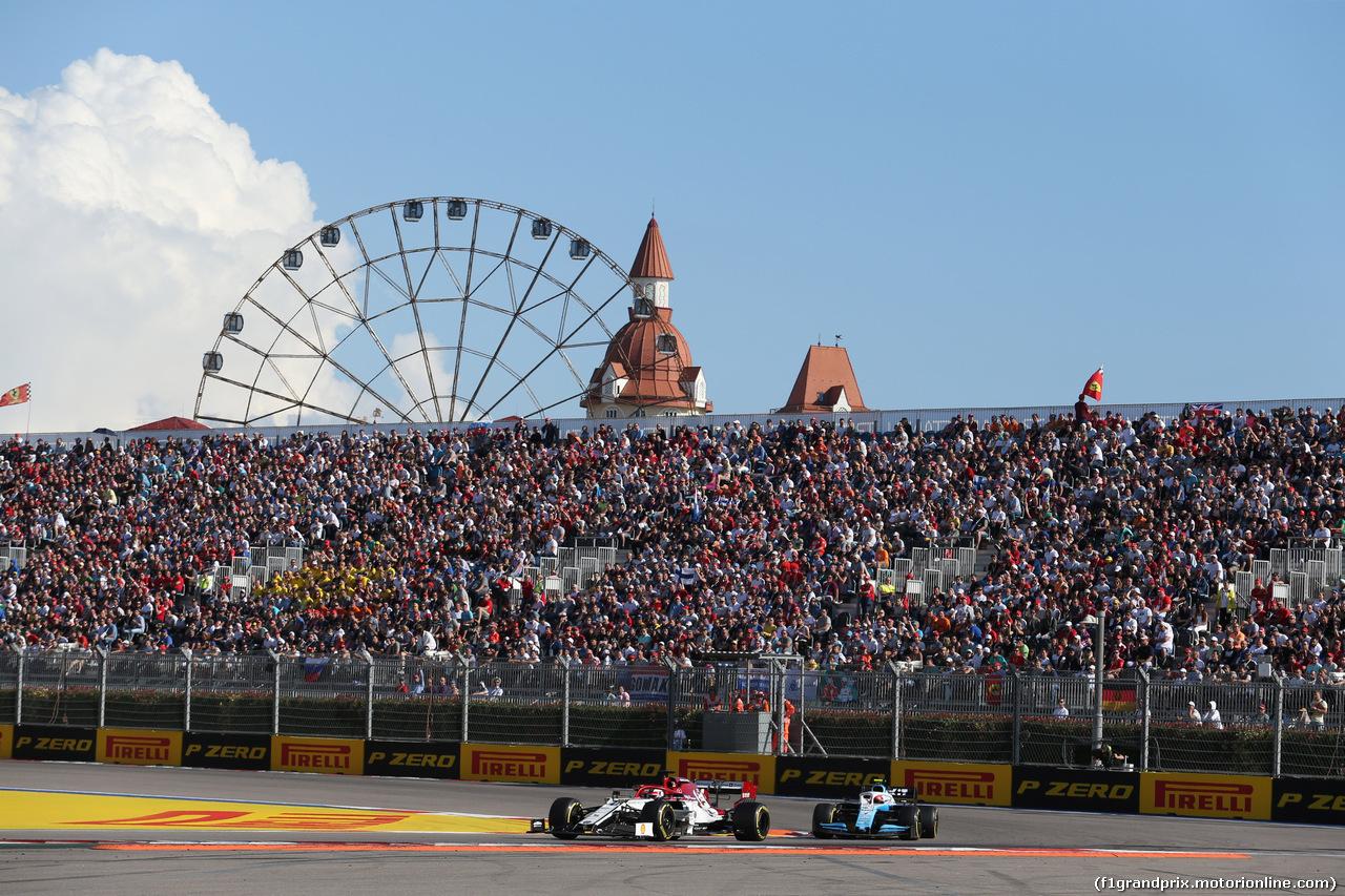 GP RUSSIA, 29.09.2019- Gara, Kimi Raikkonen (FIN) Alfa Romeo Racing C38