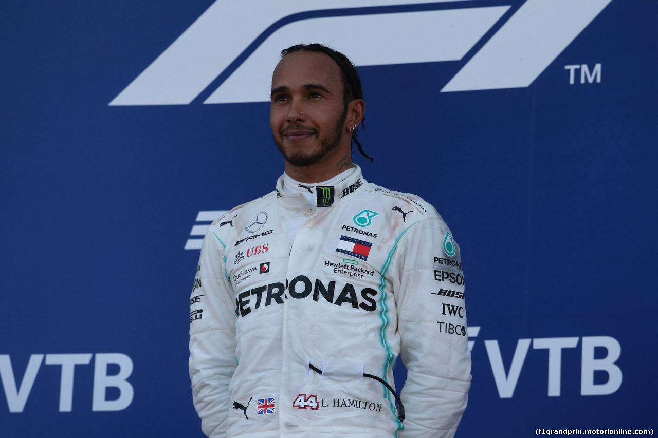 GP RUSSIA, 29.09.2019- Podium, Lewis Hamilton (GBR) Mercedes AMG F1 W10 EQ Power
