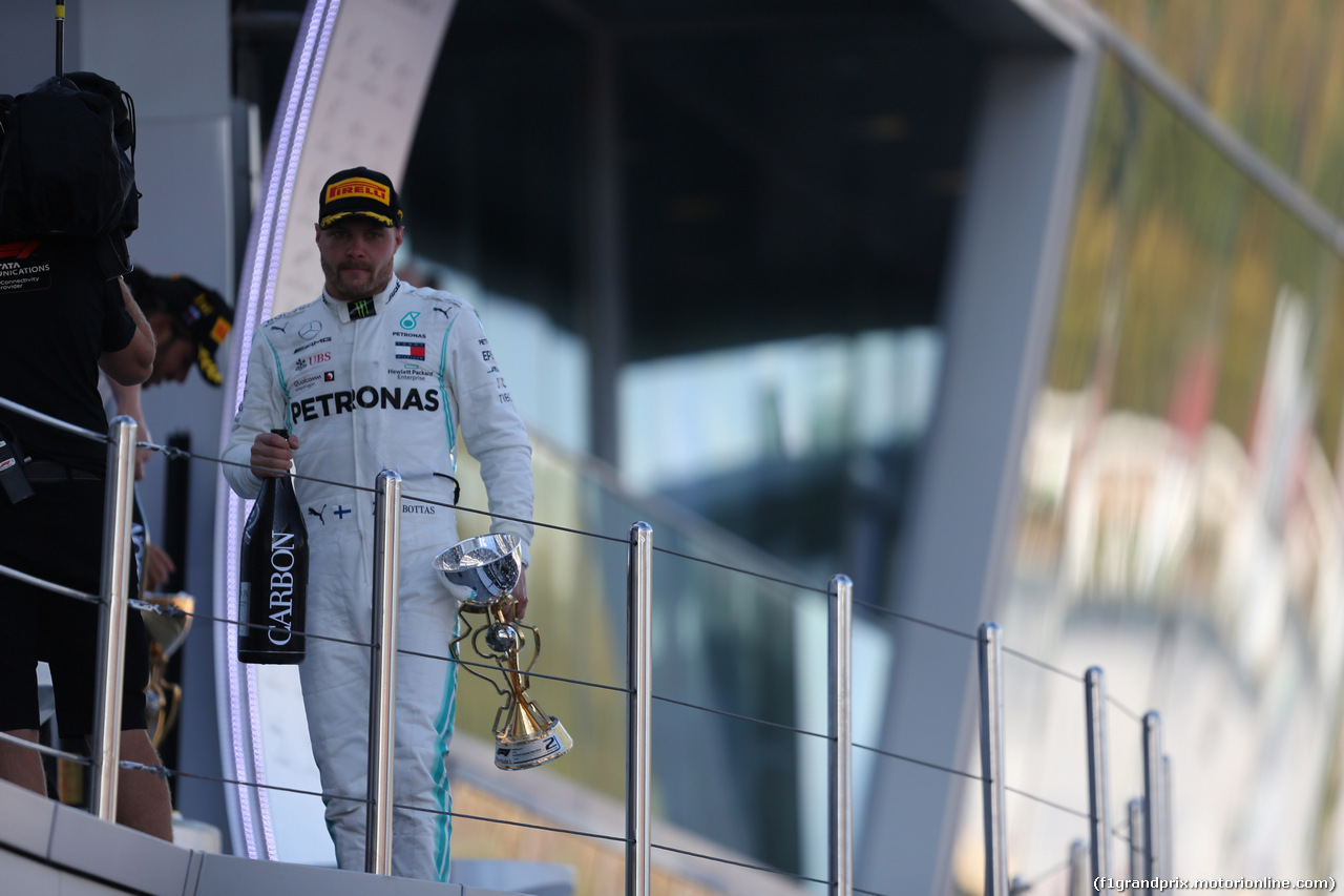 GP RUSSIA, 29.09.2019- Podium, 2nd place Valtteri Bottas (FIN) Mercedes AMG F1 W10 EQ Power