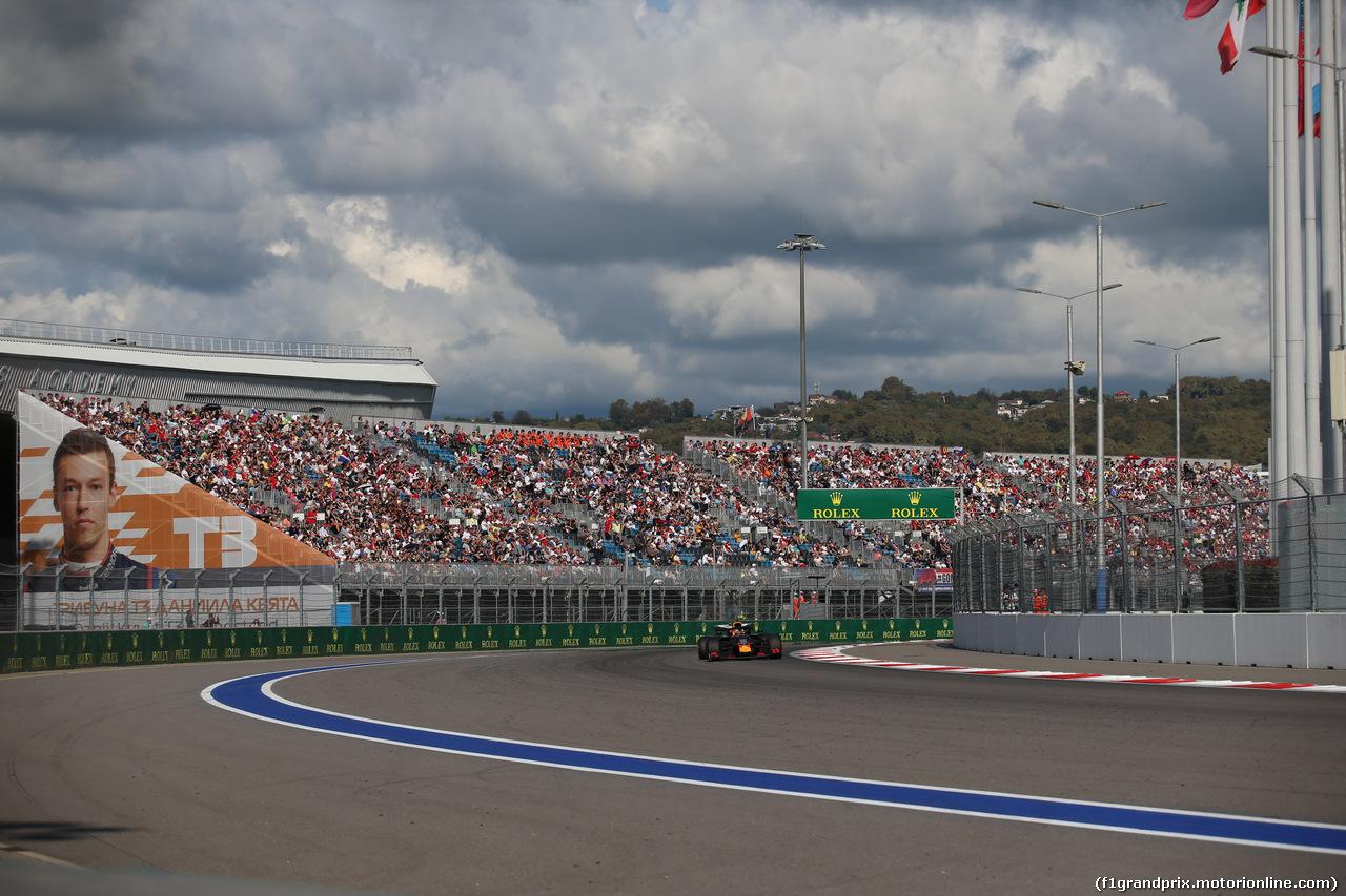 GP RUSSIA, 29.09.2019- Gara, Max Verstappen (NED) Red Bull Racing RB15