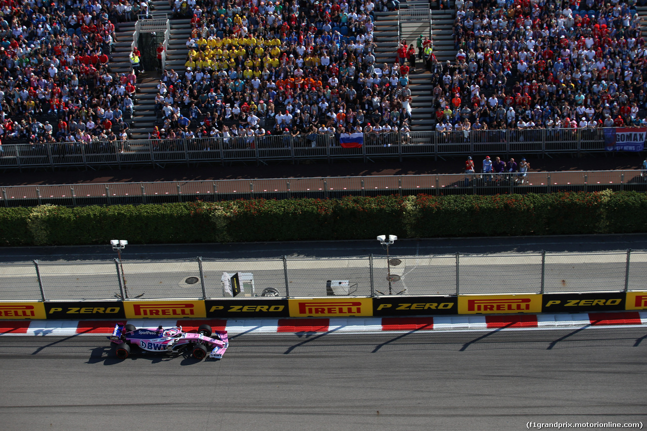 GP RUSSIA, 29.09.2019- Gara, Sergio Perez (MEX) Racing Point F1 RP19