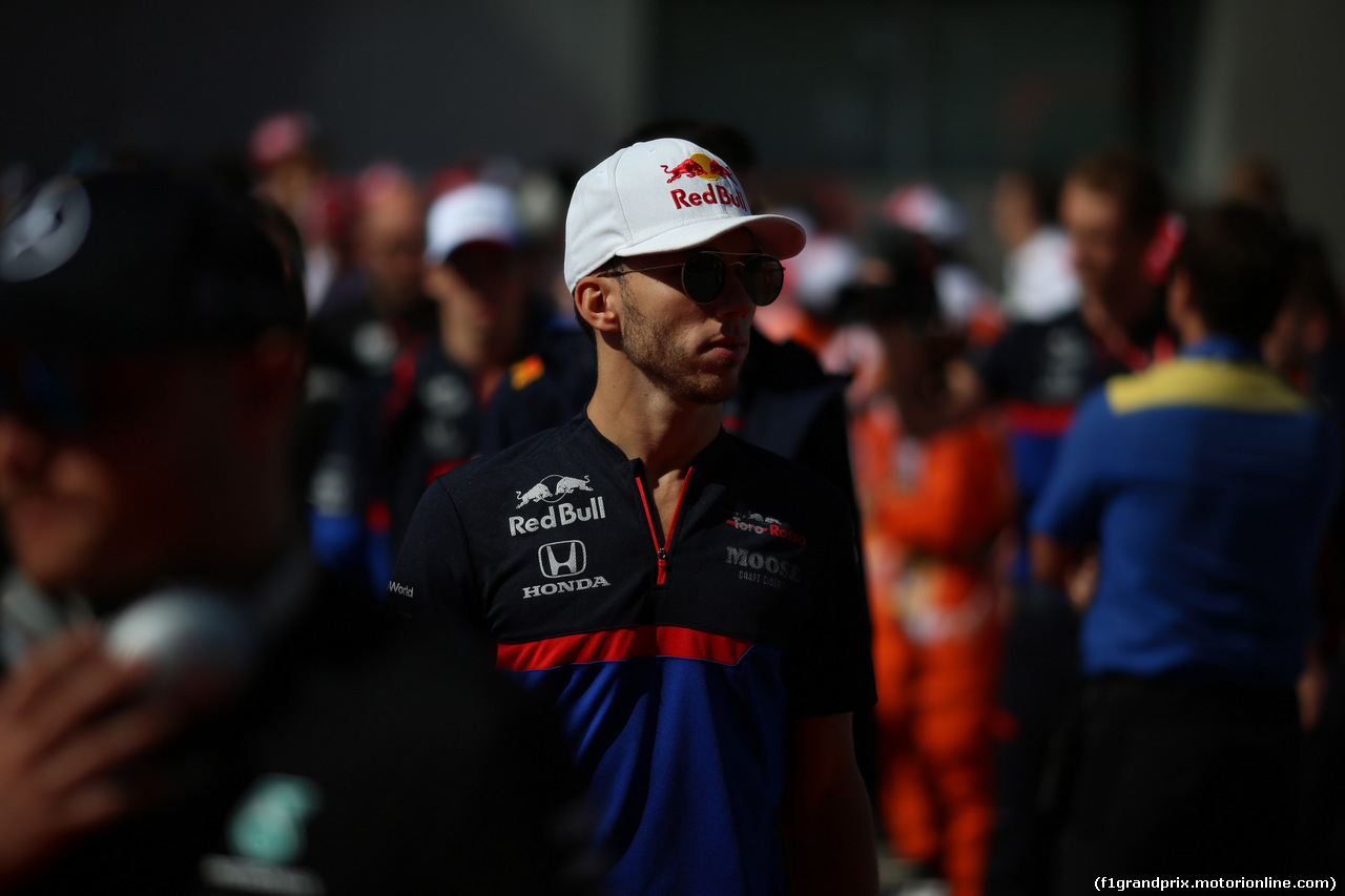 GP RUSSIA, 29.09.2019- driver parade, , Pierre Gasly (FRA) Scuderia Toro Rosso STR14