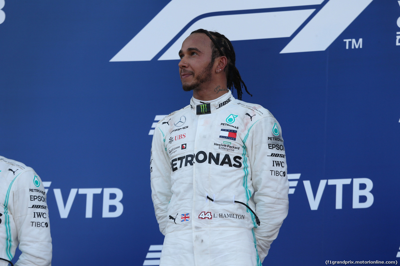 GP RUSSIA, 29.09.2019- Podium, winner Lewis Hamilton (GBR) Mercedes AMG F1 W10 EQ Power