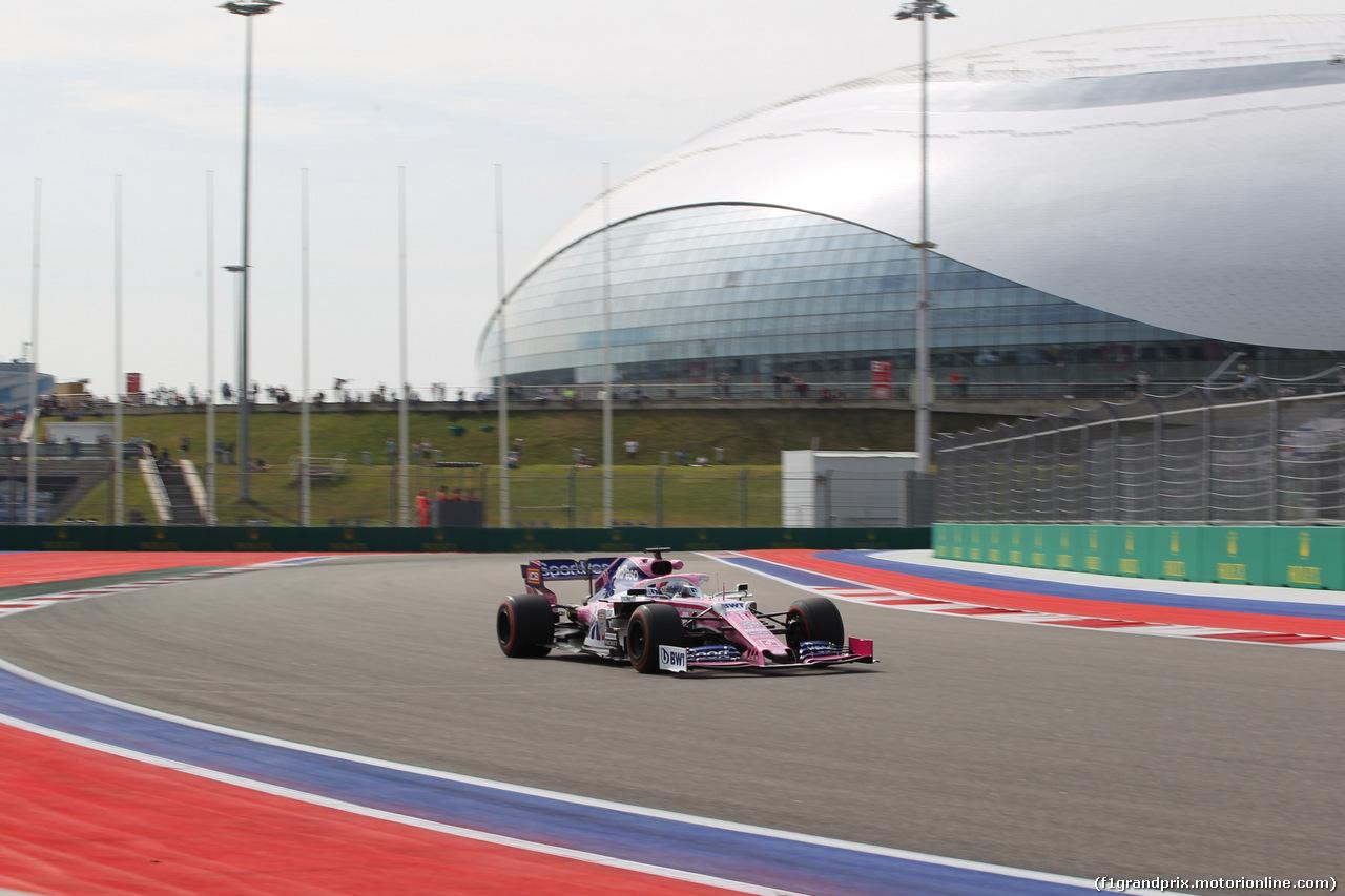GP RUSSIA, 27.09.2019- Free practice 1, Sergio Perez (MEX) Racing Point F1 RP19