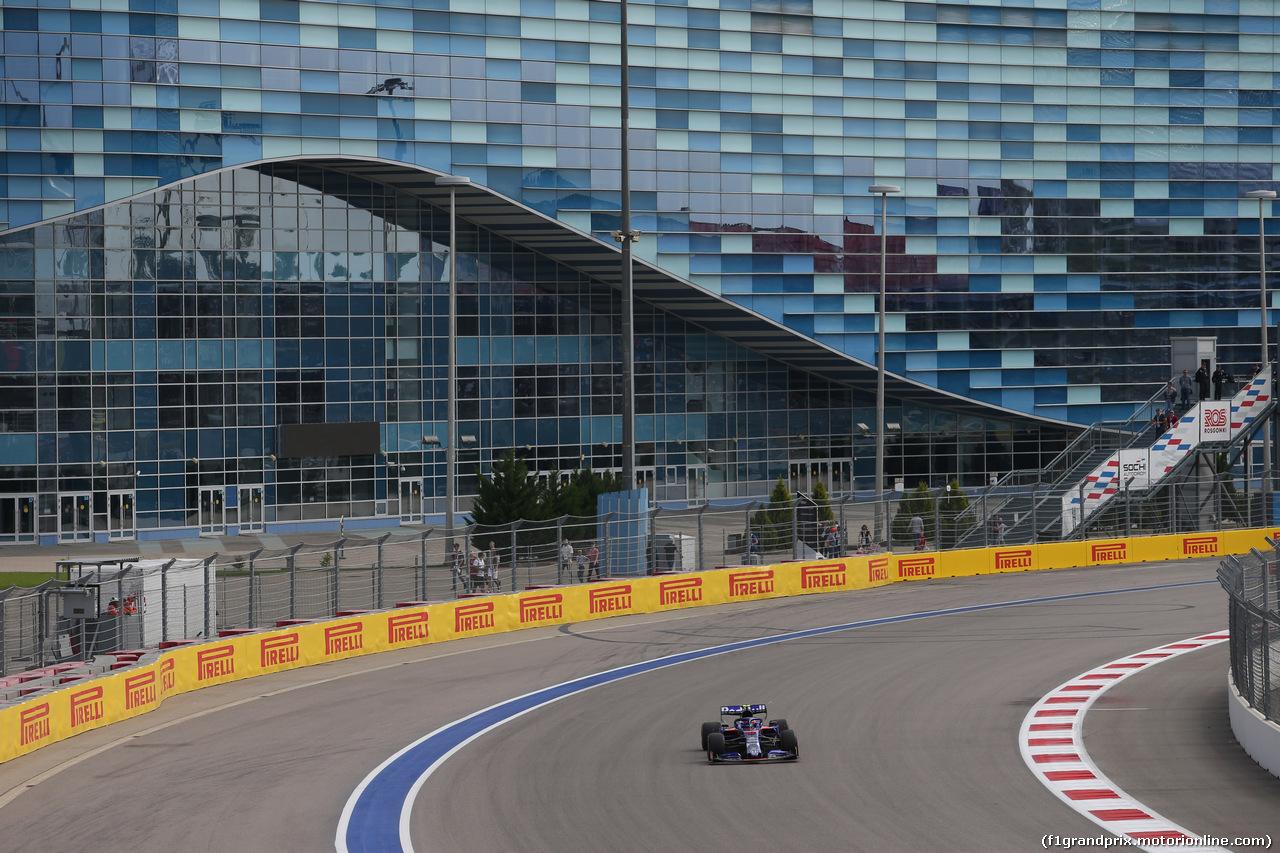 GP RUSSIA, 27.09.2019- Free practice 1, Pierre Gasly (FRA) Scuderia Toro Rosso STR14