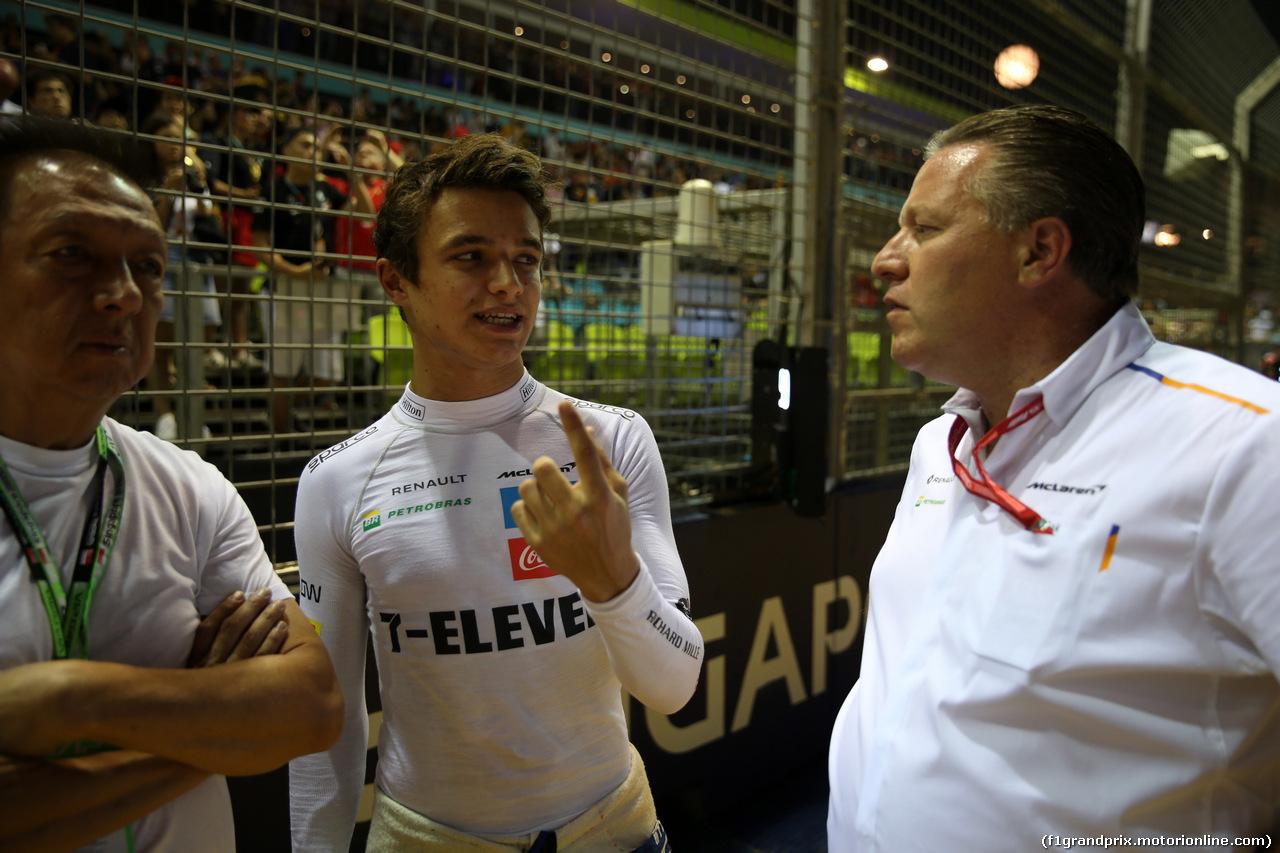 GP SINGAPORE, 22.09.2019 - Gara, Lando Norris (GBR) Mclaren F1 Team MCL34 e Zak Brown (USA) McLaren Executive Director