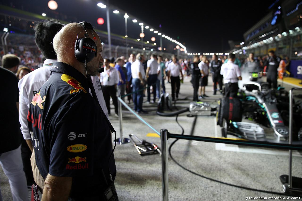 GP SINGAPORE, 22.09.2019 - Gara, Adrian Newey (GBR), Red Bull Racing , Technical Operations Director