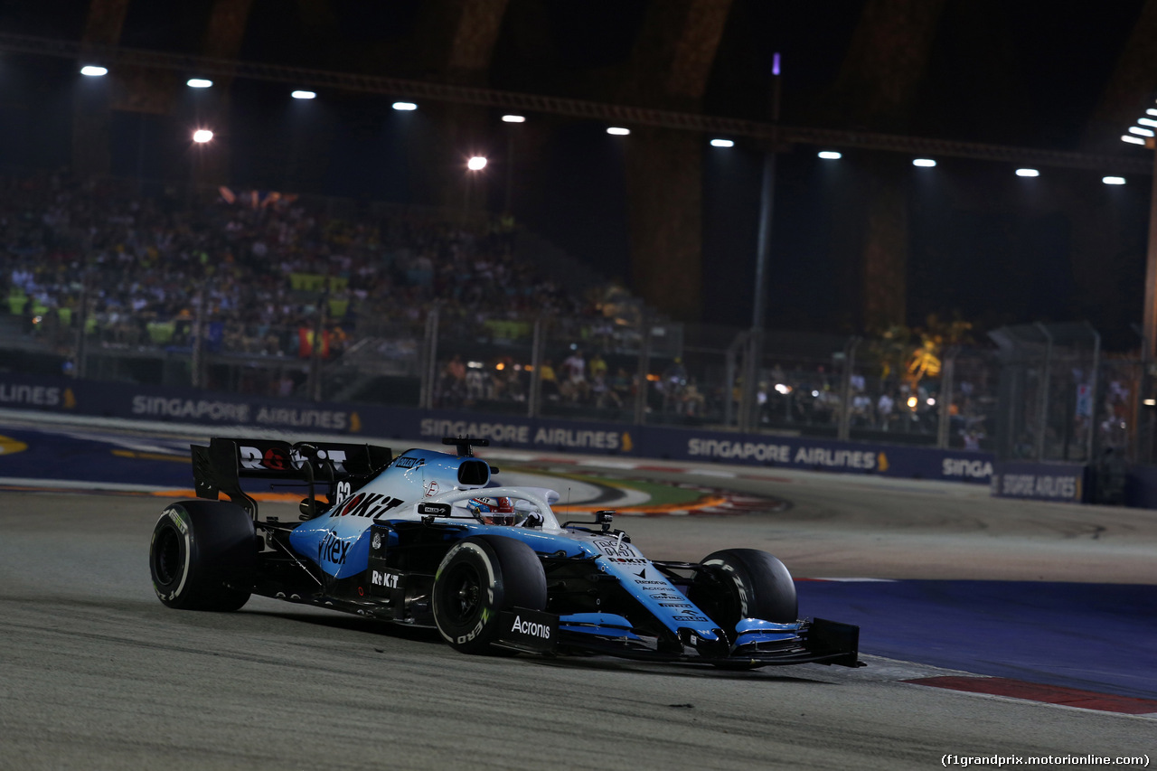 GP SINGAPORE, 22.09.2019 - Gara, George Russell (GBR) Williams Racing FW42