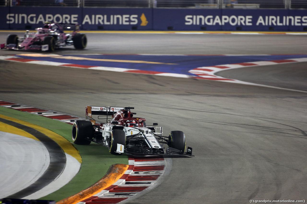 GP SINGAPORE, 22.09.2019 - Gara, Kimi Raikkonen (FIN) Alfa Romeo Racing C38