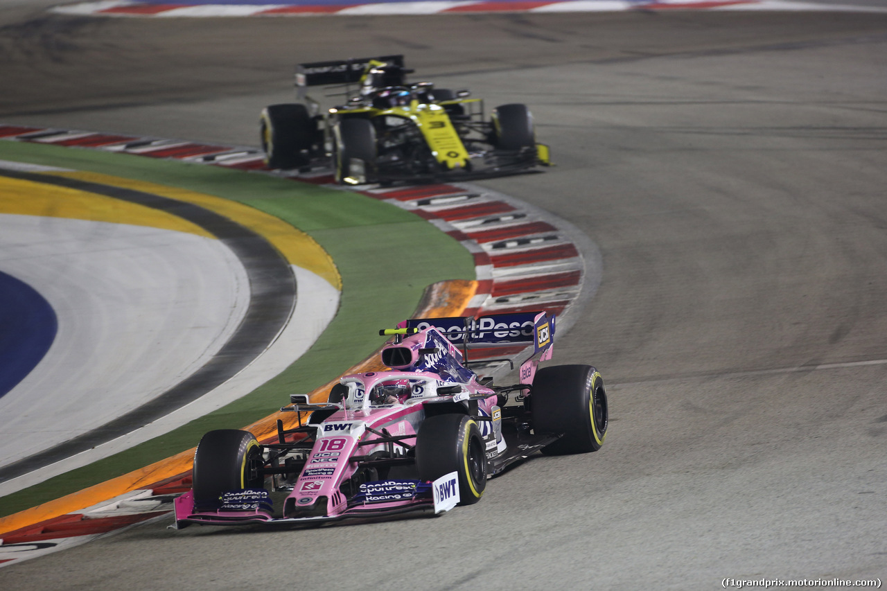 GP SINGAPORE, 22.09.2019 - Gara, Lance Stroll (CDN) Racing Point F1 Team RP19