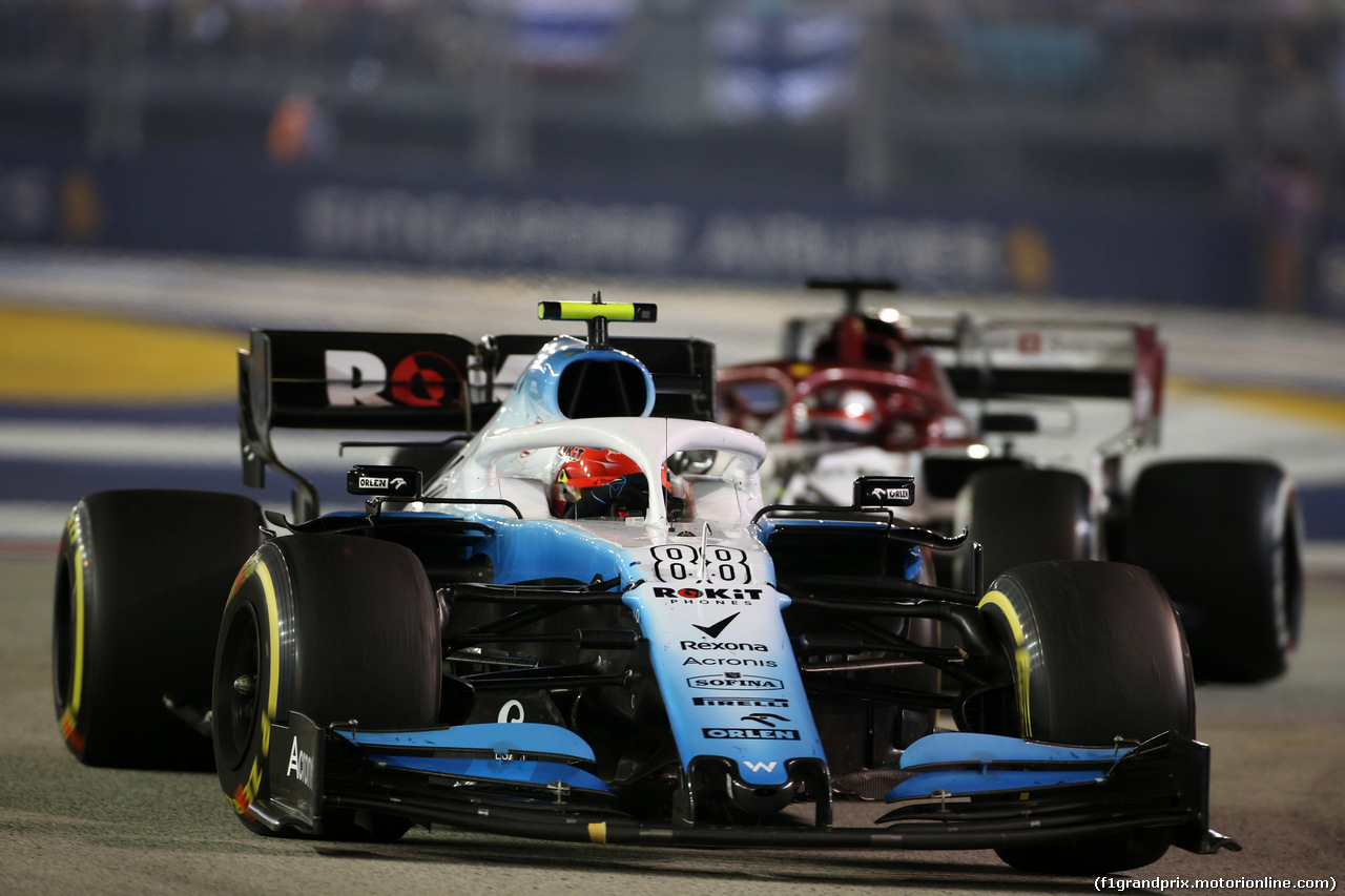 GP SINGAPORE, 22.09.2019 - Gara, Robert Kubica (POL) Williams Racing FW42