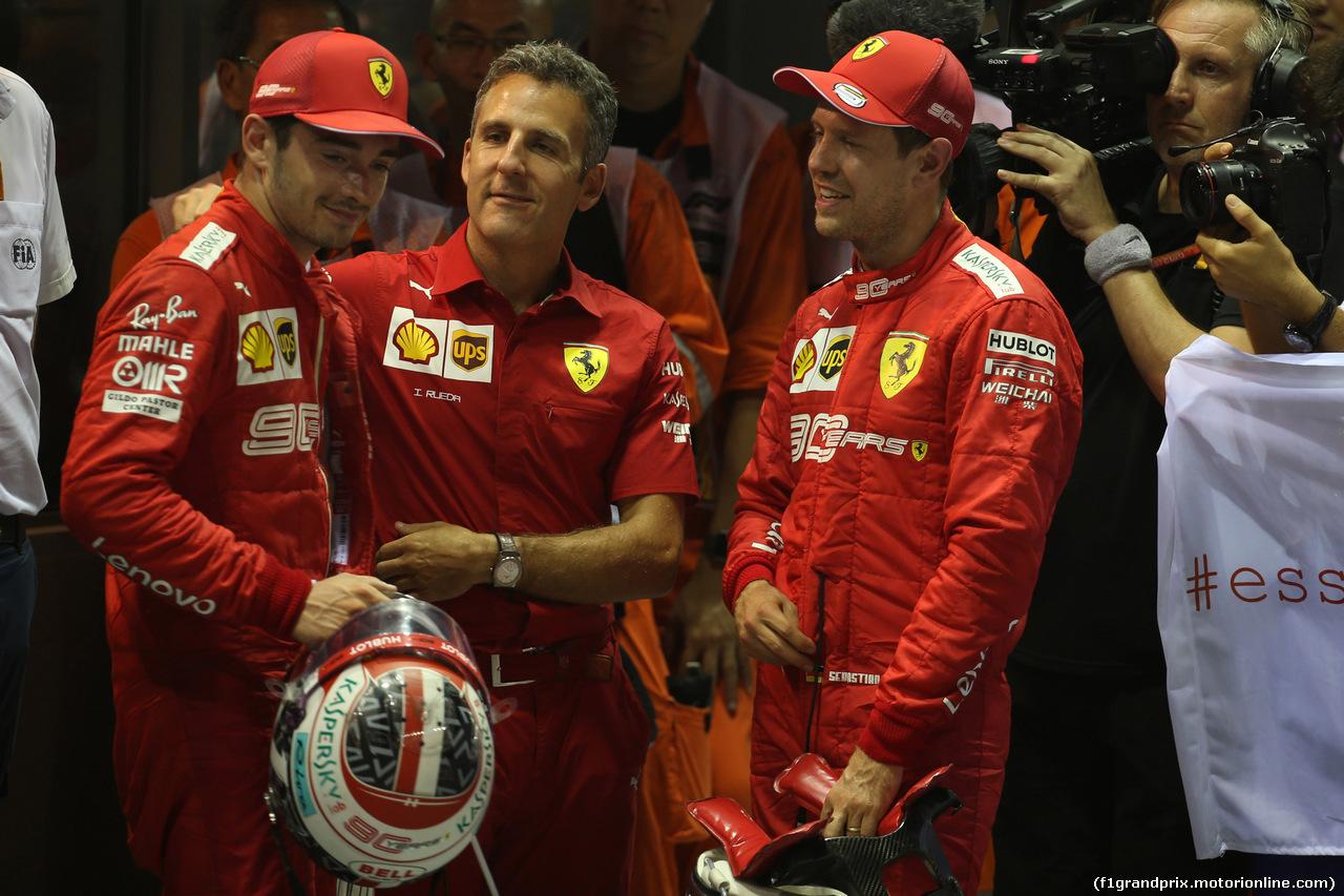 GP SINGAPORE, 22.09.2019 - Gara, 2nd place Charles Leclerc (MON) Ferrari SF90 e Sebastian Vettel (GER) Ferrari SF90 vincitore