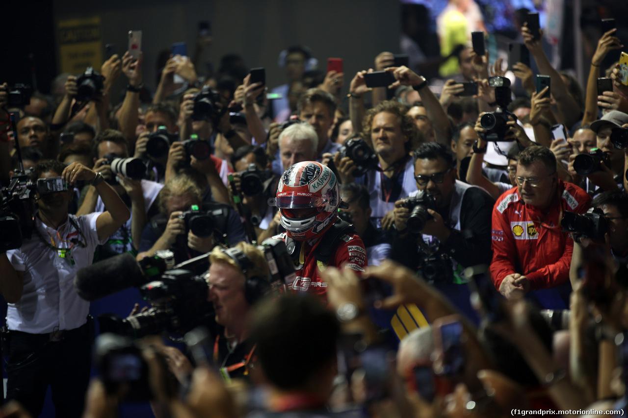 GP SINGAPORE, 22.09.2019 - Gara, 2nd place Charles Leclerc (MON) Ferrari SF90