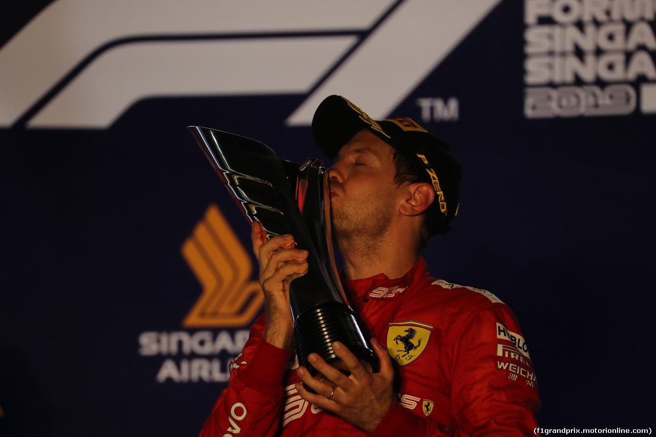 GP SINGAPORE, 22.09.2019 - Gara, Sebastian Vettel (GER) Ferrari SF90 vincitore