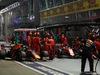 GP SINGAPORE, 22.09.2019 - Gara, Pit stop, Sebastian Vettel (GER) Ferrari SF90 e Max Verstappen (NED) Red Bull Racing RB15