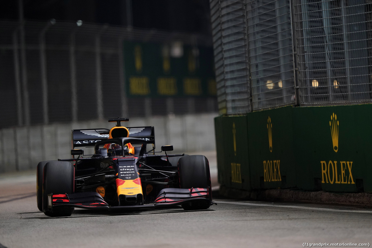 GP SINGAPORE, 20.09.2019 - Prove Libere 2, Max Verstappen (NED) Red Bull Racing RB15