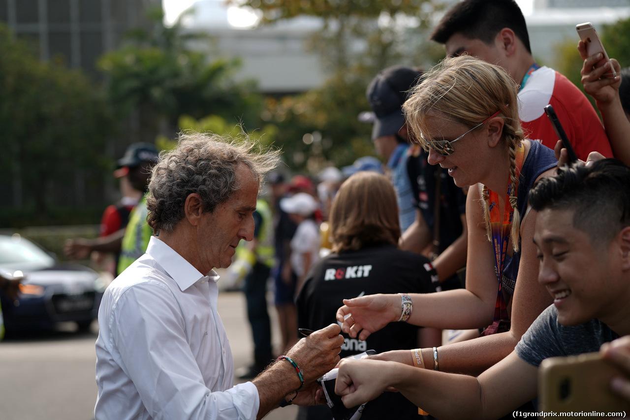 GP SINGAPORE, 21.09.2019 - Alain Prost (FRA) Renault Sport F1 Team Special Advisor