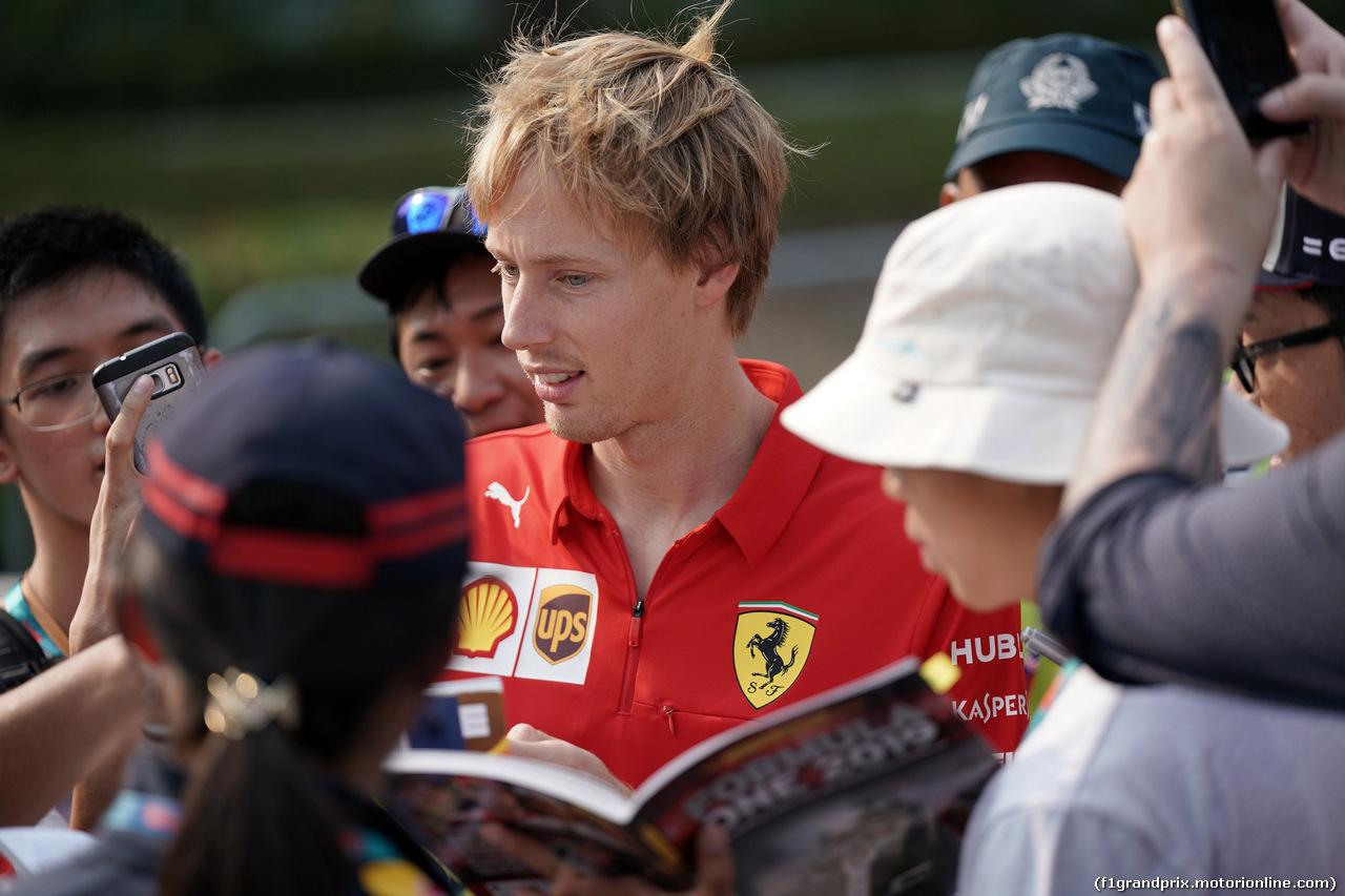 GP SINGAPORE, 21.09.2019 - Brendon Hartley (NZL) Ferrari Development Driver.