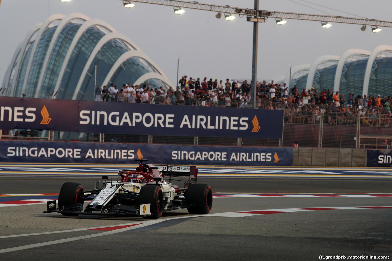 GP SINGAPORE, 21.09.2019 - Prove Libere 3, Kimi Raikkonen (FIN) Alfa Romeo Racing C38