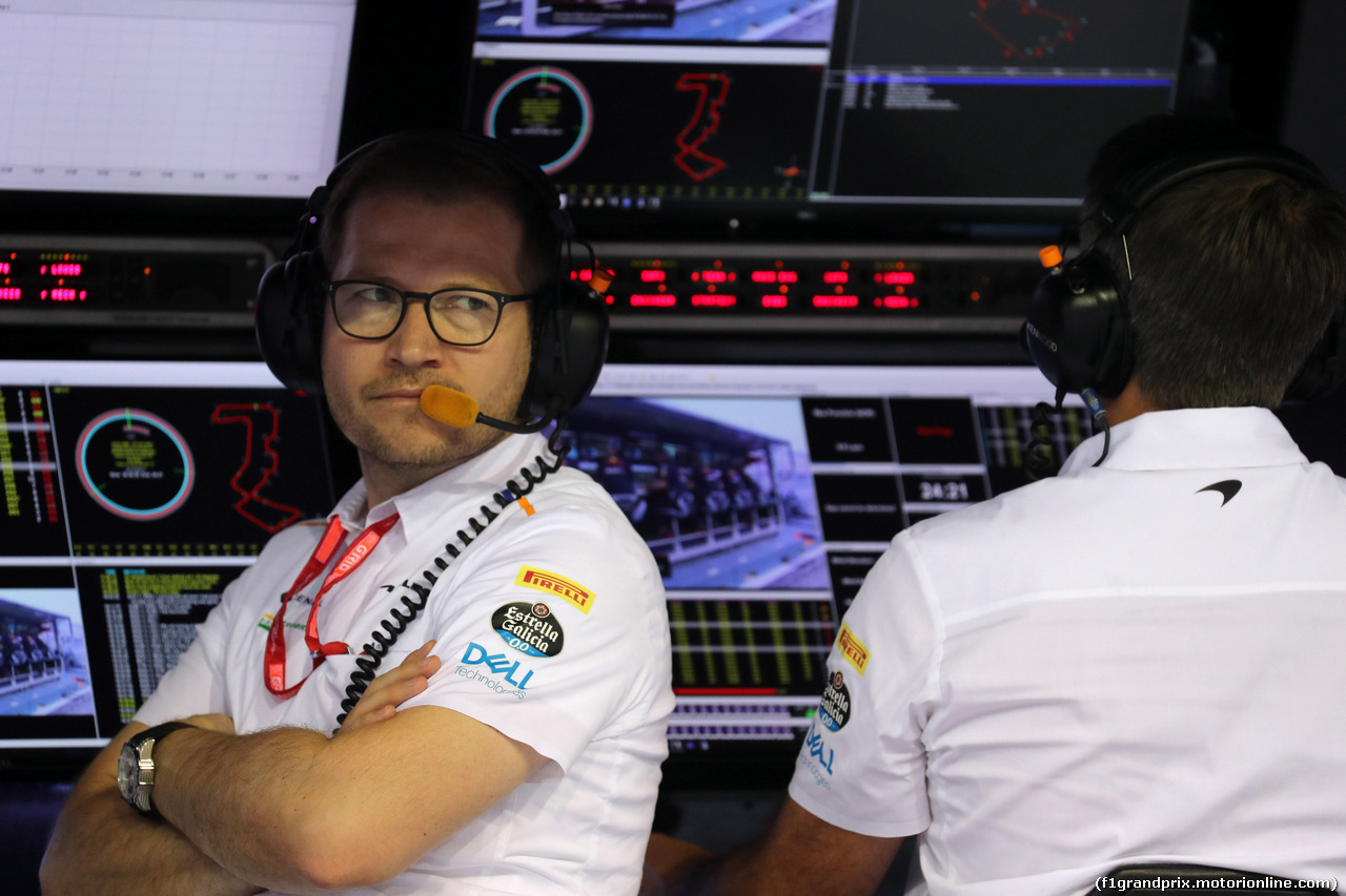 GP SINGAPORE, 21.09.2019 - Prove Libere 3, Andreas Seidl, McLaren Team Principal