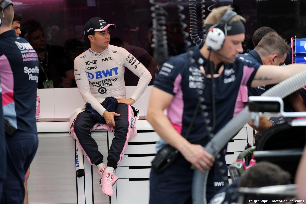 GP SINGAPORE, 21.09.2019 - Prove Libere 3, Sergio Perez (MEX) Racing Point F1 Team RP19