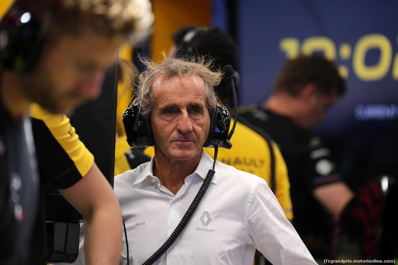 GP SINGAPORE, 21.09.2019 - Prove Libere 3, Alain Prost (FRA) Renault Sport F1 Team Special Advisor