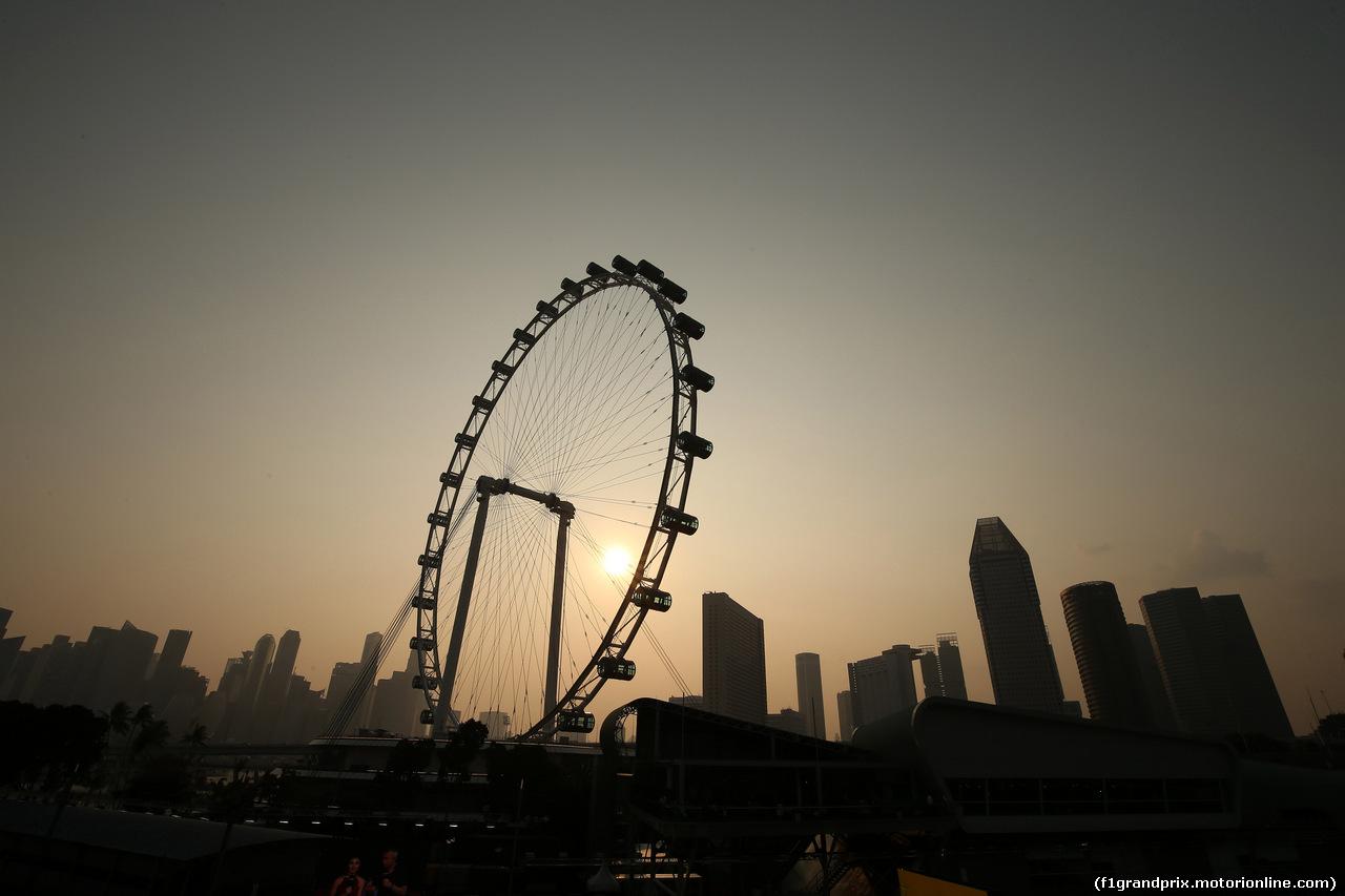 GP SINGAPORE, 21.09.2019 - Prove Libere 3, Singapore skyline