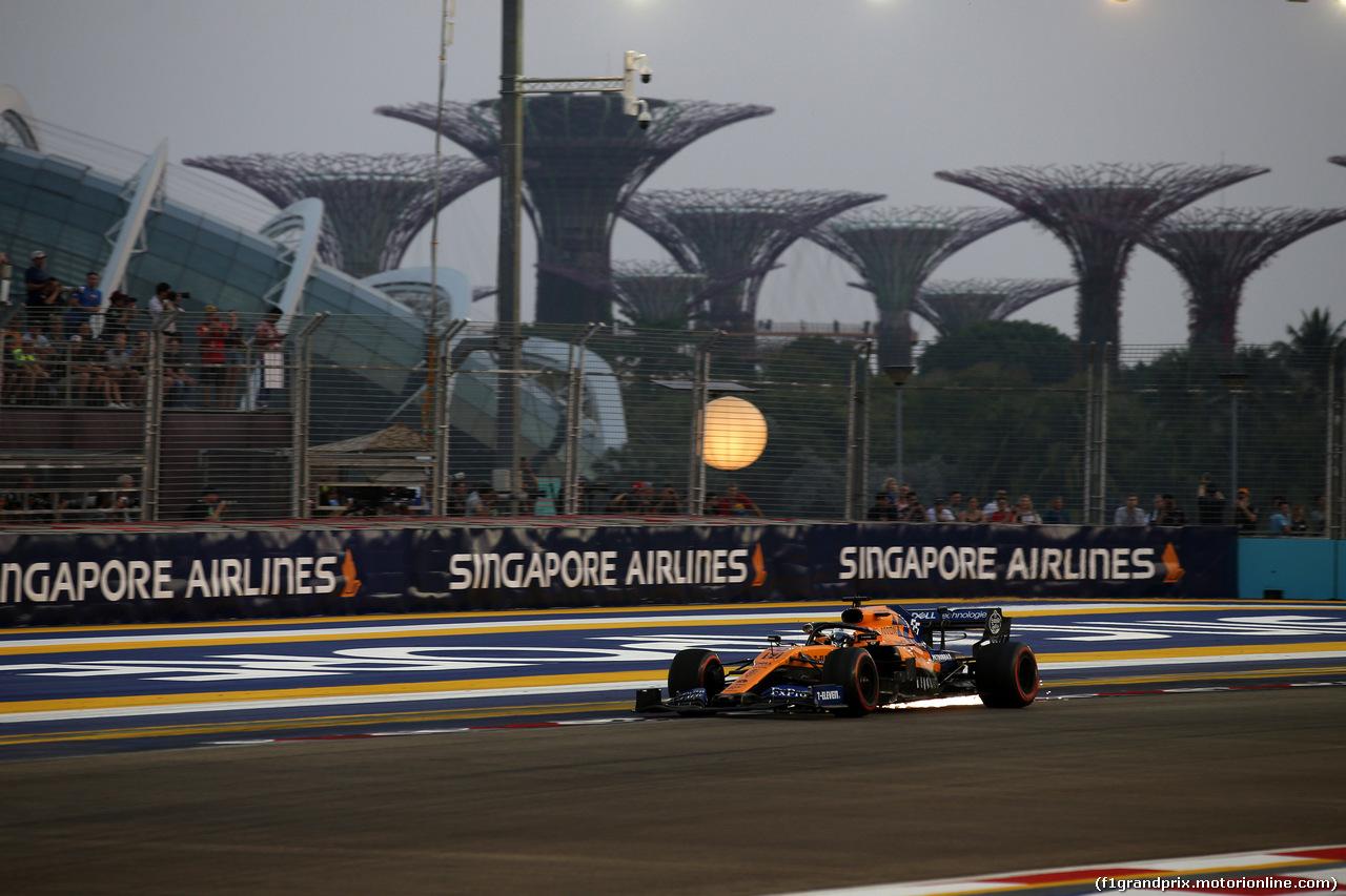 GP SINGAPORE, 21.09.2019 - Prove Libere 3, Carlos Sainz Jr (ESP) Mclaren F1 Team MCL34