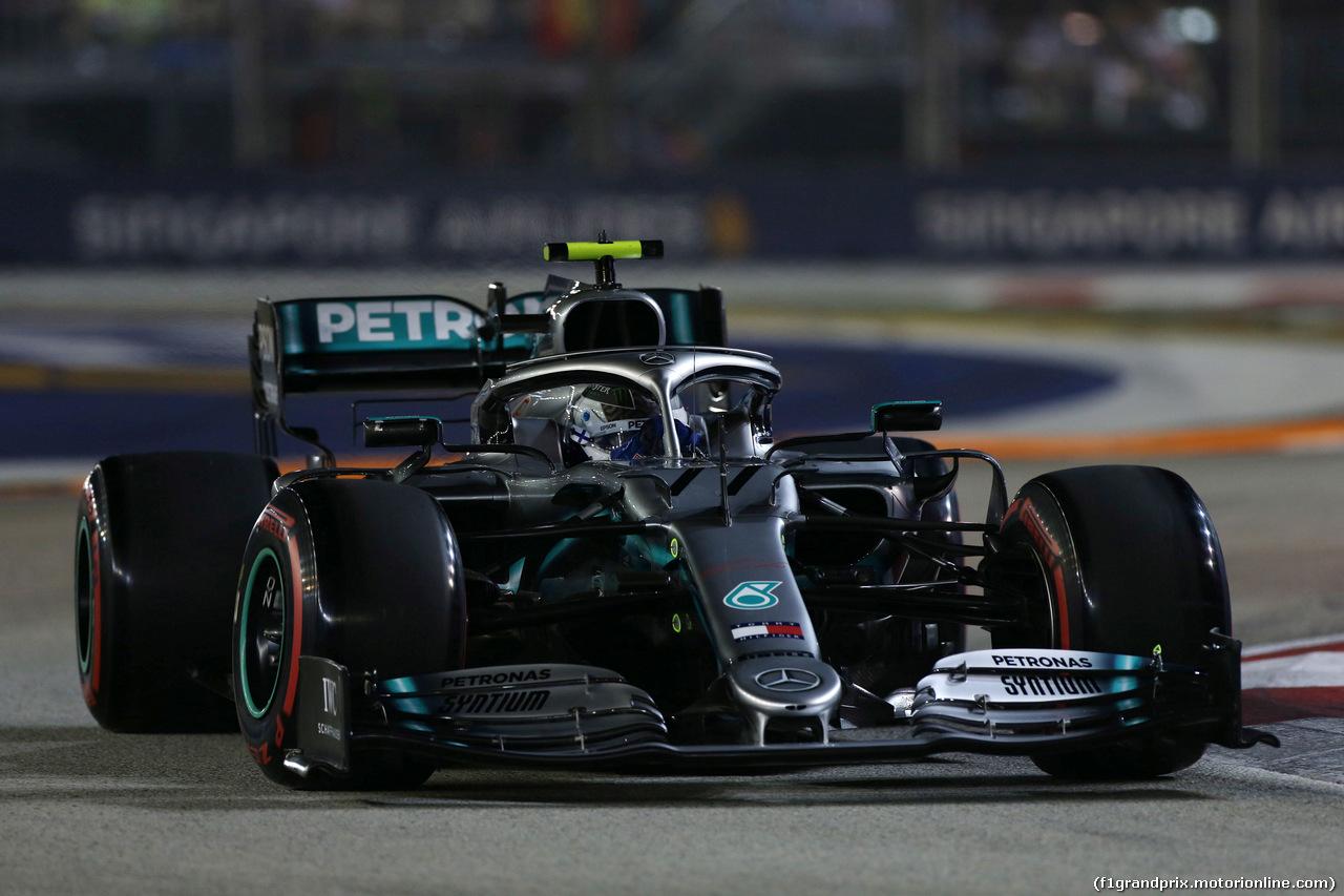 GP SINGAPORE, 21.09.2019 - Qualifiche, Valtteri Bottas (FIN) Mercedes AMG F1 W010