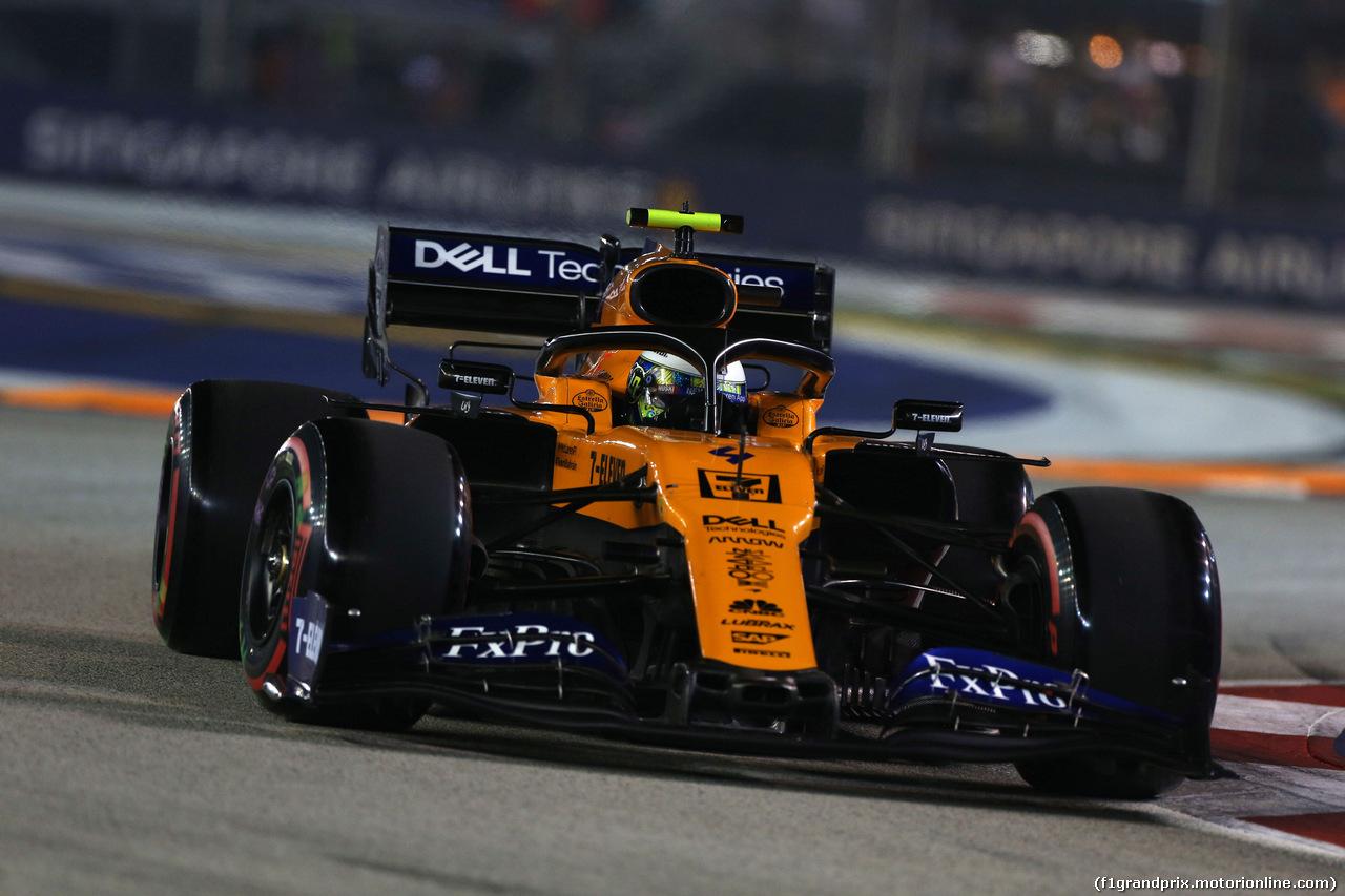 GP SINGAPORE, 21.09.2019 - Qualifiche, Lando Norris (GBR) Mclaren F1 Team MCL34