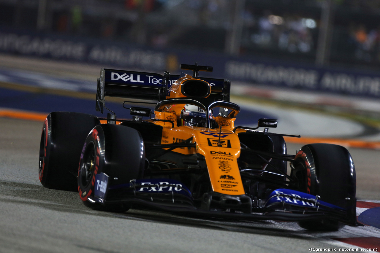 GP SINGAPORE, 21.09.2019 - Qualifiche, Carlos Sainz Jr (ESP) Mclaren F1 Team MCL34