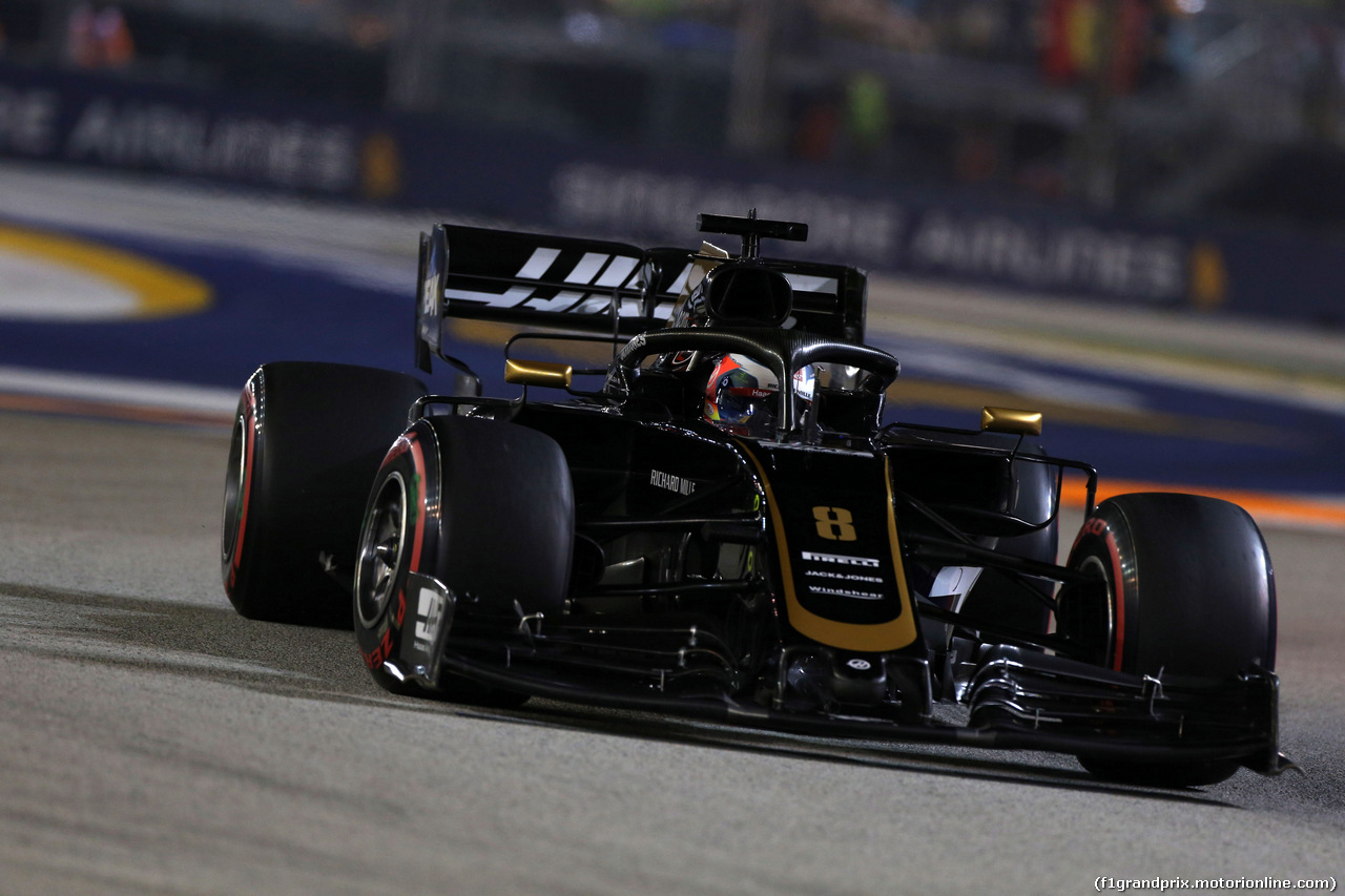 GP SINGAPORE, 21.09.2019 - Qualifiche, Romain Grosjean (FRA) Haas F1 Team VF-19