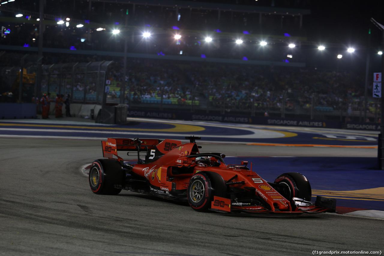 GP SINGAPORE, 21.09.2019 - Qualifiche, Sebastian Vettel (GER) Ferrari SF90