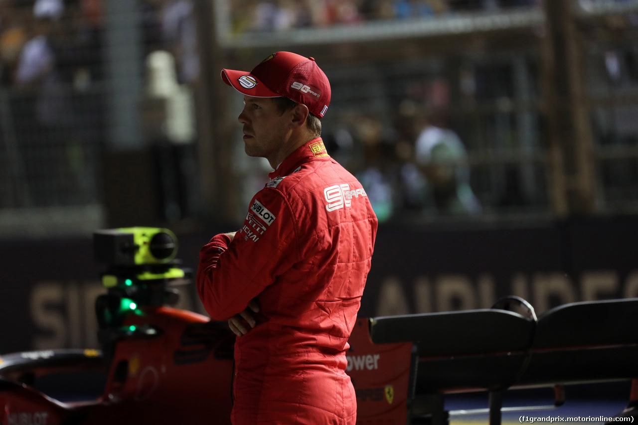 GP SINGAPORE, 21.09.2019 - Qualifiche, 3rd place Sebastian Vettel (GER) Ferrari SF90