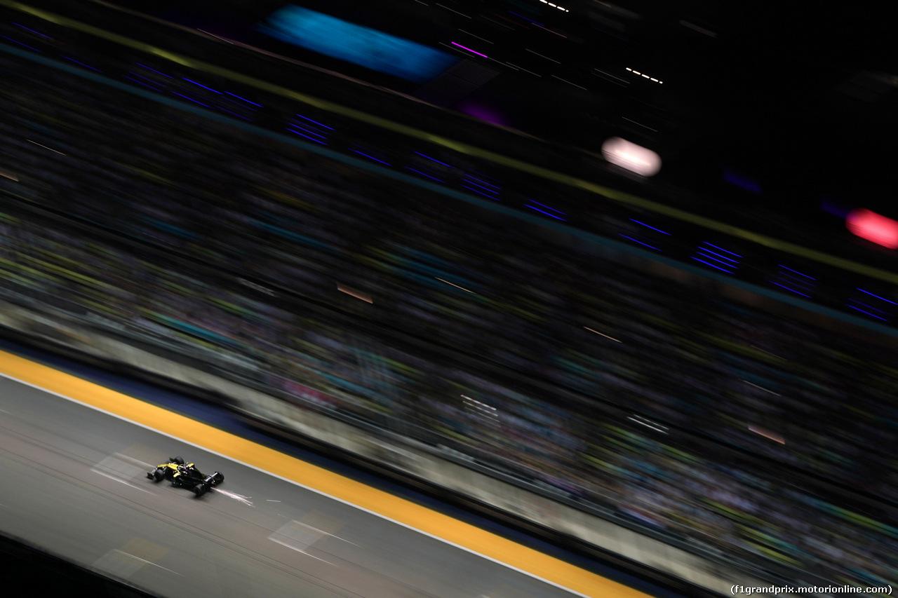 GP SINGAPORE, 21.09.2019 - Qualifiche, Daniel Ricciardo (AUS) Renault Sport F1 Team RS19