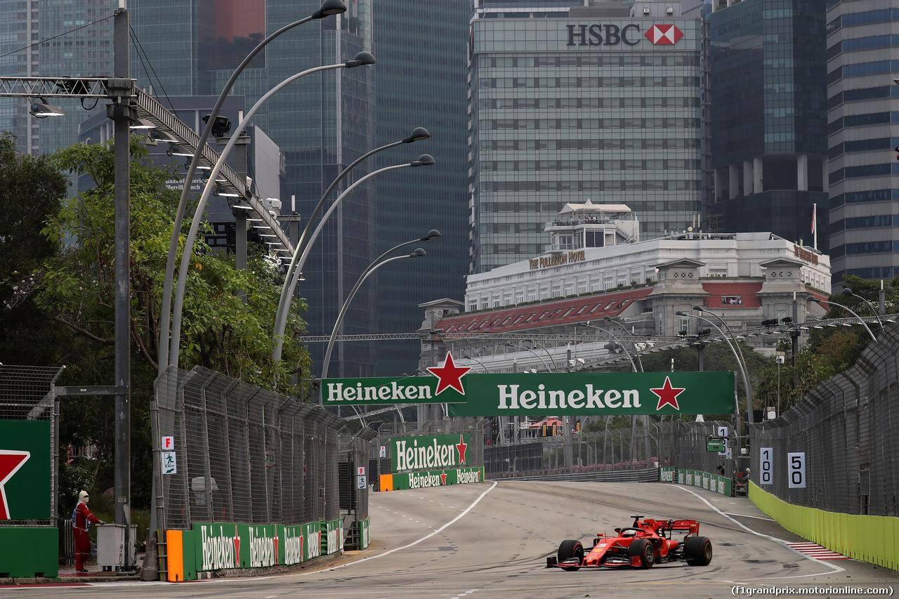 GP SINGAPORE, 20.09.2019 - Prove Libere 1, Sebastian Vettel (GER) Ferrari SF90